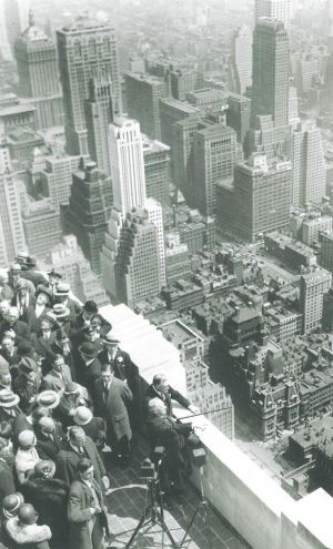 Alfred E Smith dedicating the Empire State Building - New York in b&w.jpg