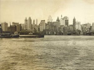 Looking across to Manhattan over river - America in black and white.jpg