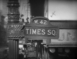 Times Square 42nd street sign - New York in black and white.jpg