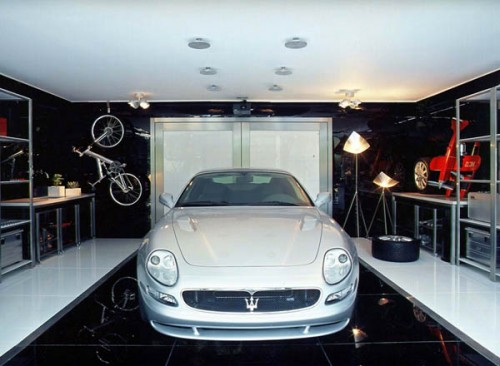 Stylish home luxury garage design for Auto interior design ideas