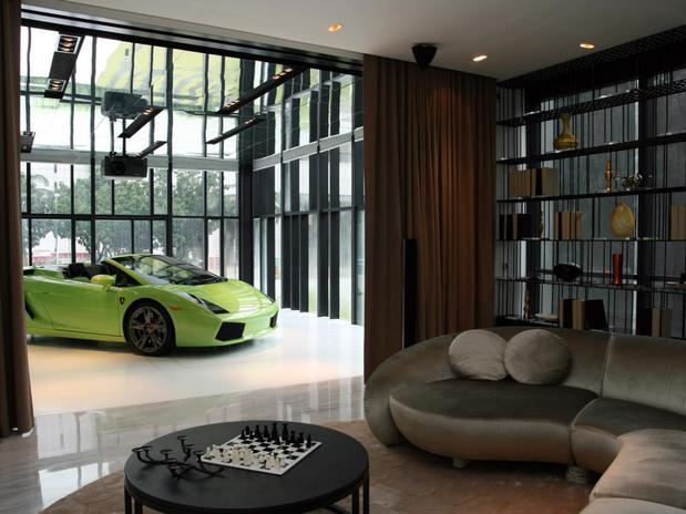 Stylish home luxury garage design for Garage designs interior ideas