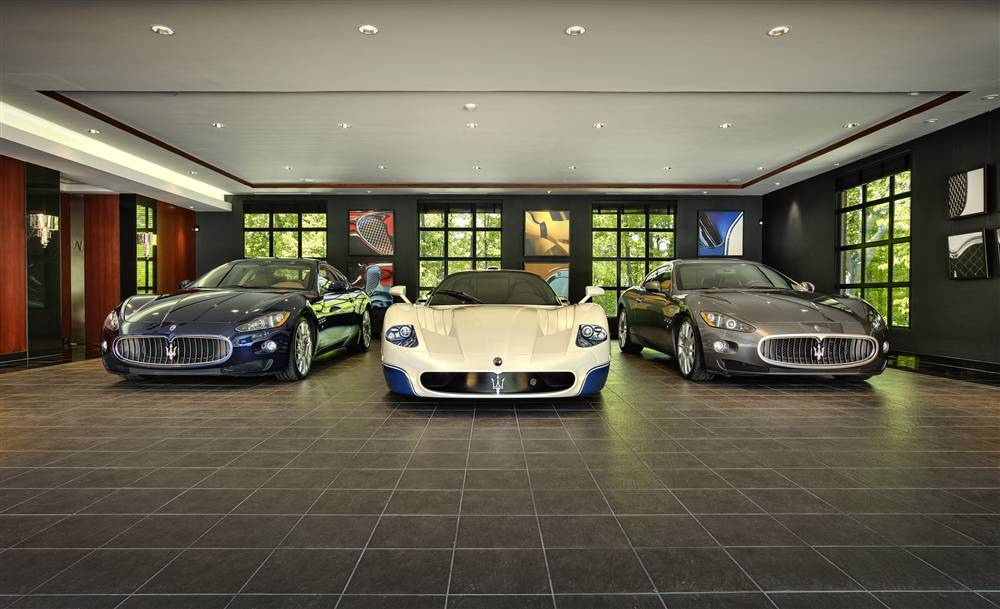 Stylish home luxury garage design for Luxury garage interiors