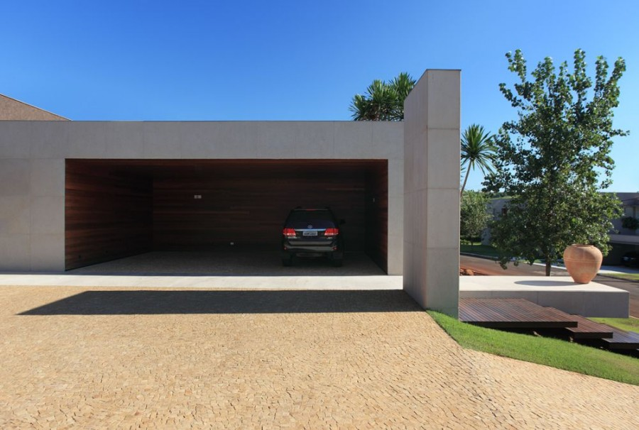 Stylish home luxury garage design for Garage designs pictures