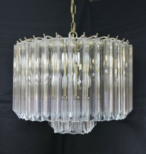 Luscious textiles glass lucite and crystal deco inspired tier chandelier crystal glass luciteg aloadofball Choice Image