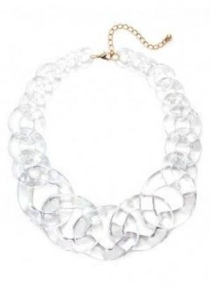 multicolor crew jcrew lyst in jewelry product necklace lucite frosted colour j multi normal blue gallery