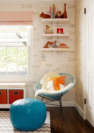 baby-nursery-with-blue-and-orange-theme.jpg