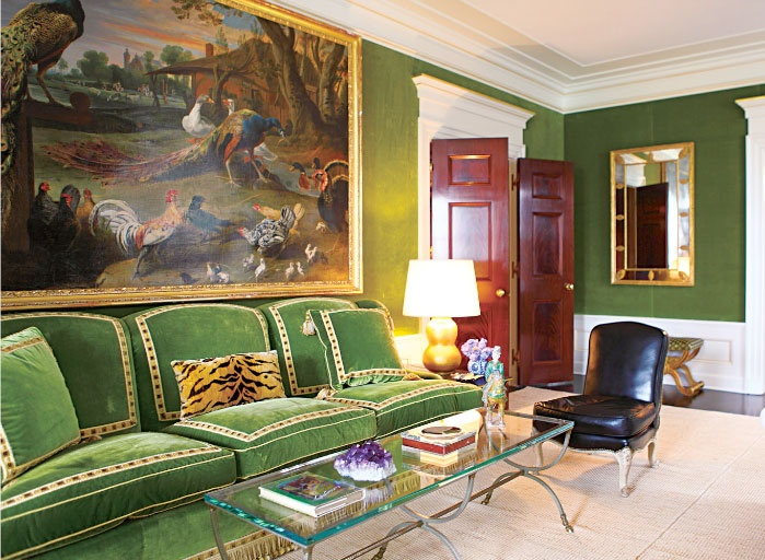 ... apartment photographed by Francois Halard.jpg Tory Burch Green Living  Room.jpg ...
