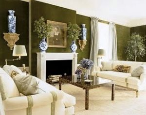 At home with Tory Burch - Green Living Room.jpg
