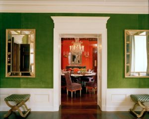 Tory Burch - Green Living Room looking into Dining Room.jpg