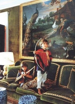 Tory Burch sons in Green Living Room.jpg