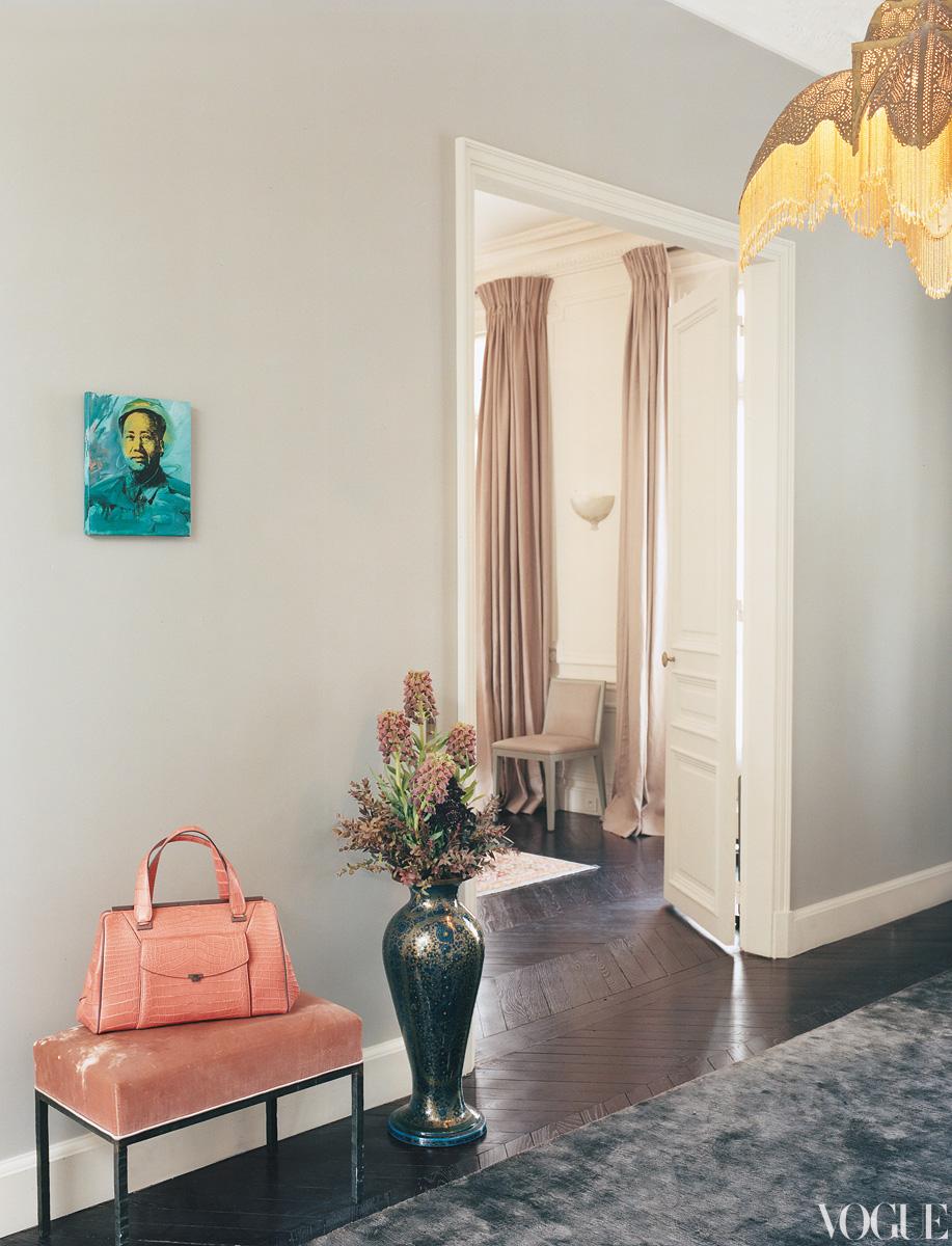 Hallway Inside The Home Of Lwren Scott And Mick Jagger In Paris
