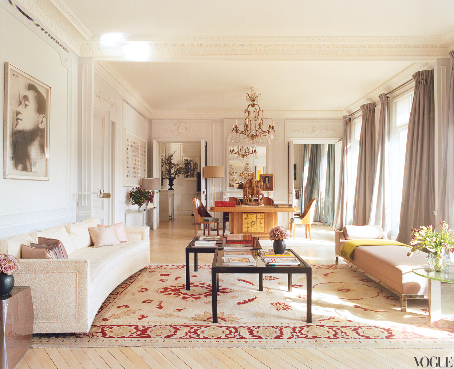 Famous folk at home l wren scott and mick jagger in paris Parisian style home