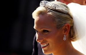 Bridal tiara - Zara Phillips on her wedding day wearing a tiara.jpg