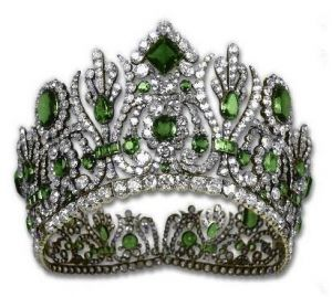 Crown jewels - Diadem from Empress Marie-Louise Emerald Parure.JPG