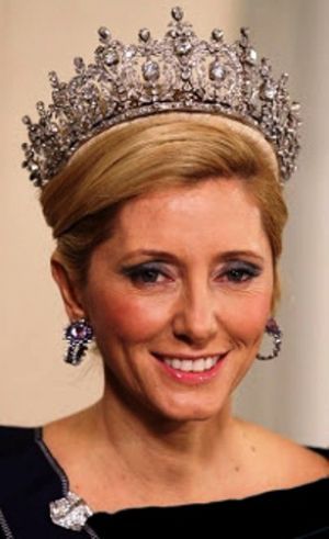 Jewels jewels - Marie-Chantal of Greece in a tiara.jpg