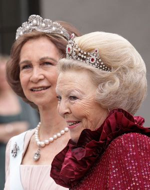 Jewels jewels - Queens of Spain and the Netherland wearing tiaras.jpg