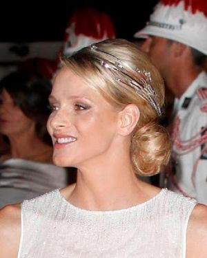 Princess Charlene Diamond Foam Tiara Wedding Dinner.jpg