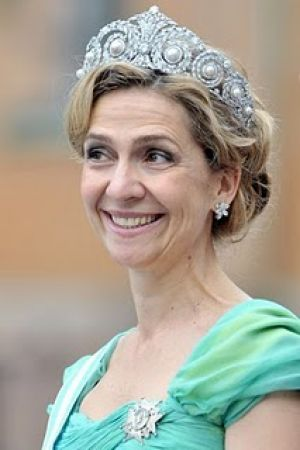Princess tiaras - Tiaras of Spanish Royals at Royal Wedding- Infanta Cristina.jpg