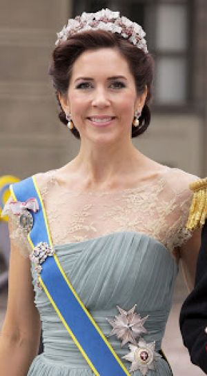 Wearing tiaras - Crown Princess Mary of Denmark in a tiara.jpg