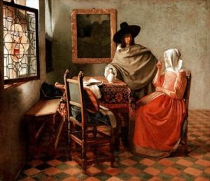 Historic maternity clothing - The_glass_of_wine - Vermeer.jpg