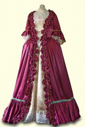 Images of pregnancy maternity fashion - 18th-19th century maternity style - Colonial-Gown-1700s.jpg