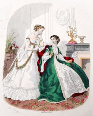 Images of pregnancy maternity fashion - Green-Wrapper-la-mode-illustree-1867.jpg