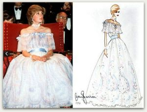 Maternity clothing archive - Princess Diana photo and sketch.jpg