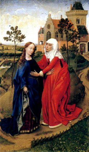 07303c6384f3a ... Medieval Renaissance Elizabethan maternity clothing - Heimsuchung von  der Weyden.jpg ...