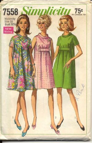 Stylish pregnancy clothing - 1960s and 1970s patterns.jpg