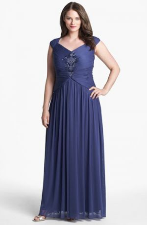 Adrianna Papell Embellished Pleat Gown - Plus Size Wisteria.jpg