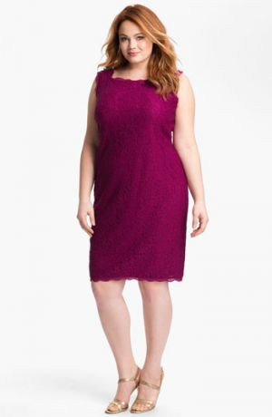 Adrianna Papell Sleeveless Lace Sheath Dress - Plus Size - Crushed Berry.jpg