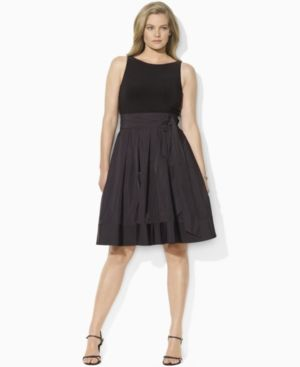 Cocktail fashion - Lauren by Ralph Lauren Plus Size Dress - Pleated Cocktail Dress.jpg