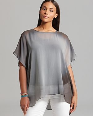Eileen Fisher Plus Ballet Neck Boxy Tunic in grey.jpg