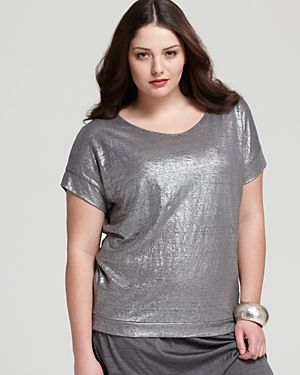 Eileen Fisher Plus Metallic Dolman Wedge Top.jpg