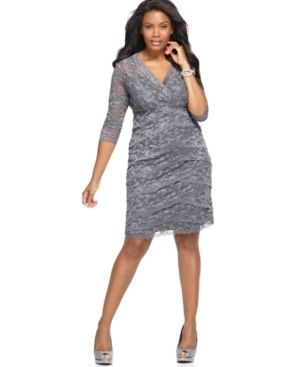 Marina Plus Size Dress - Beaded Lace Cocktail Dress with sleeve.jpg