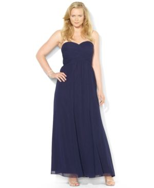 Plus size models - Lauren Ralph Lauren Plus Size Dress - Strapless Sweetheart Gown.jpg