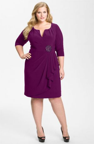 Purple Adrianna Papell Embellished Matte Jersey Sheath Dress - Plus size Deep Mulberry.jpg