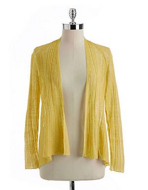 Yellow Eileen Fisher Plus Angle Front Cardigan.jpg