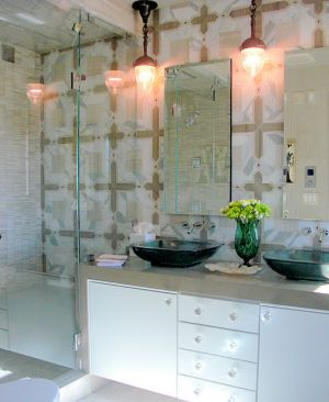 Interior design inspired by mother of pearl hues - Elle Decor Showhouse 2010 -Master Bath.jpg