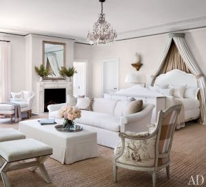 Louise and Vince Camuto Hamptons house master suite
