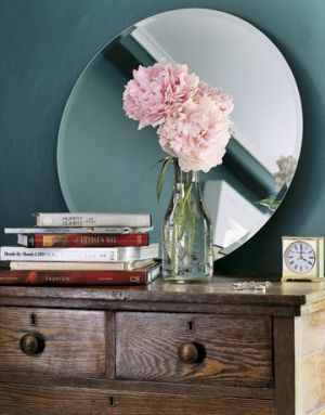 Floral decor fashion blog ideas - Countryliving.com - Guest Bedroom Decor - peonies with stack of books.jpg