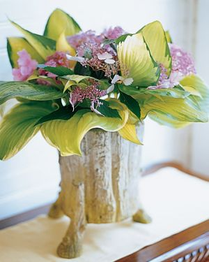Floral designers - Martha Stewart - hosta leaves and lavender hydrangeas.jpg