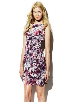 Floral fabric designs in fashion and home decor - Printed Floral Wrap Dress - Vince Camuto.jpg