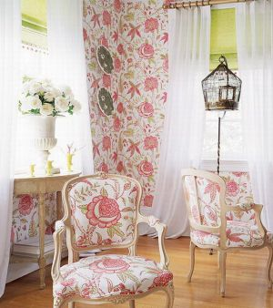 Floral fabric designs in fashion and home decor - red-floral-furniture.jpg