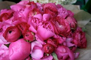 Floral images - Vintage floral inspiration - Bouquet of pink roses and peonies.JPG