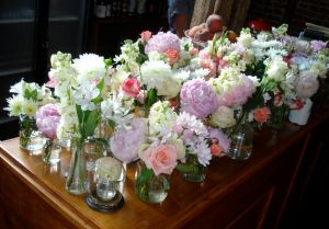 Floral interiors and fashion photos - Display of peonies and roses.jpg