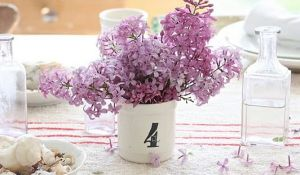 Images of floral fashion and decor - Lilac flowers in vase.JPG
