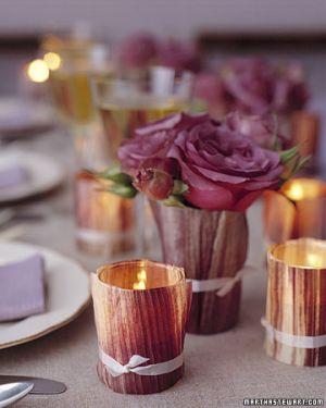 Images of floral fashion and decor - Martha Stewart - purple cornhusk votives.jpg