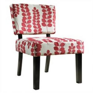 Images of floral fashion and decor - Powell Furniture Red & Cream Floral Oliver Accent Chair.jpg