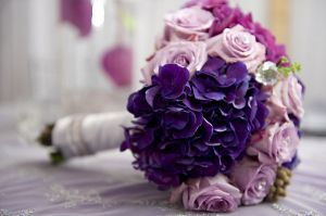 Images of floral fashion and decor - pink and purple wedding bouquet.jpg
